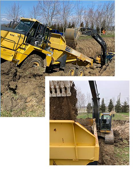 Neroda Construction Home Page Trucking Fleet - Neroda Construction - Windsor Excavating, Waterproofing & Concrete